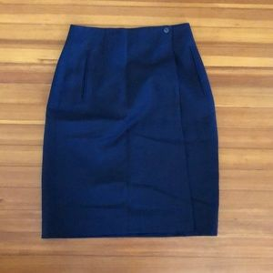 Liz Claiborne Wool Wrap Pencil Skirt